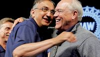 Sergio Marchionne Dennis Williams hug