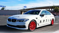 Aptiv partners with Lyft ?to deploy self-driving BMW vehicles in Las Vegas.