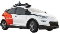 The Cruise AV autonomous vehicle, based on the Chevy Bolt
