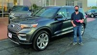 The satisfied customer allegedly used a stolen identity to buy his new Explorer.