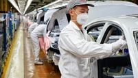 Vehicle production line at GAC-Honda, Honda's joint venture with GAC Motor Co.