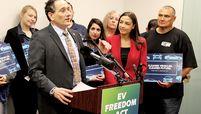 Democratic Reps. Andy Levin and Alexandria Ocasio-Cortez