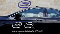 Mobileye test vehicle