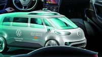 Volkswagen tests a Level 4 autonomous system, top. The automaker is bolstering its plans for the autonomous space, including an eventual robotaxi based on the ID Buzz, middle, and the Trinity, bottom, which will have a neural network capable of learning.