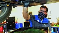 The reverse early-bird offers at Findlay Subaru Prescott in Arizona can include discounts on oil changes, left, from