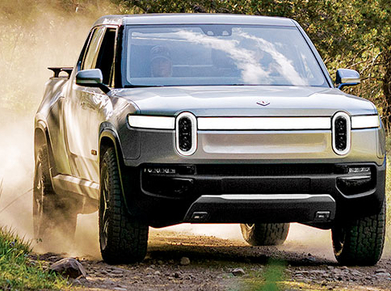 The Rivian R1T's suspension system uses components already used on other vehicles.