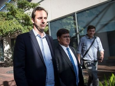 Anthony Levandowski (left) was supposed to spend 18 months in prison after pleading guilty to trade secret theft.