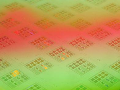 A sheet of microchips