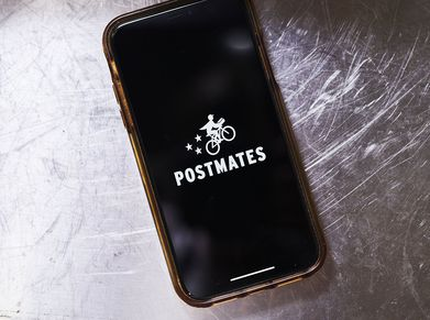 Postmates app on a mobile phone