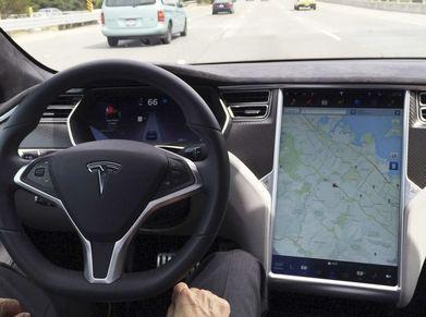 Tesla Autopilot screen