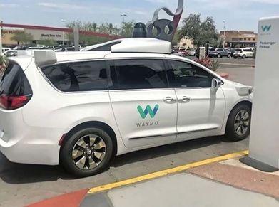 Waymo self-driving van