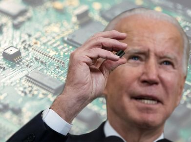 President Biden and microchips