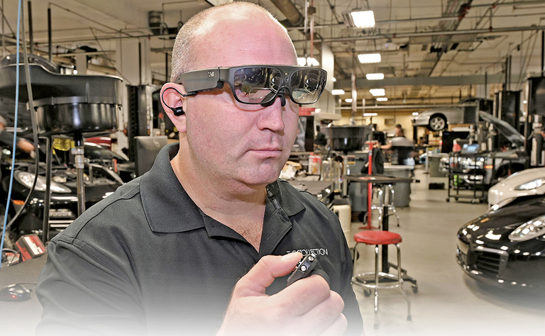 Porsche's glasses connect service techs with factory in real time