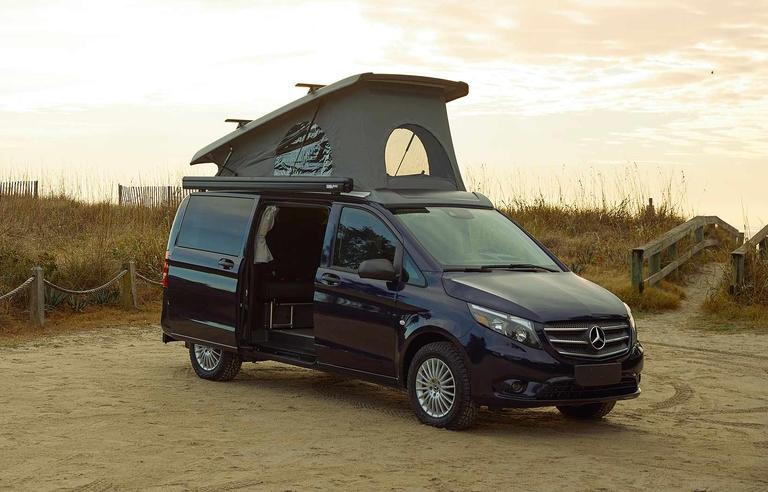 Mercedes goes glamping with pop-up Weekender van