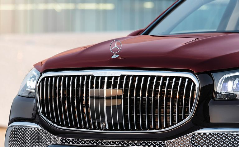A 2021 Mercedes-Maybach GLS 600 grille