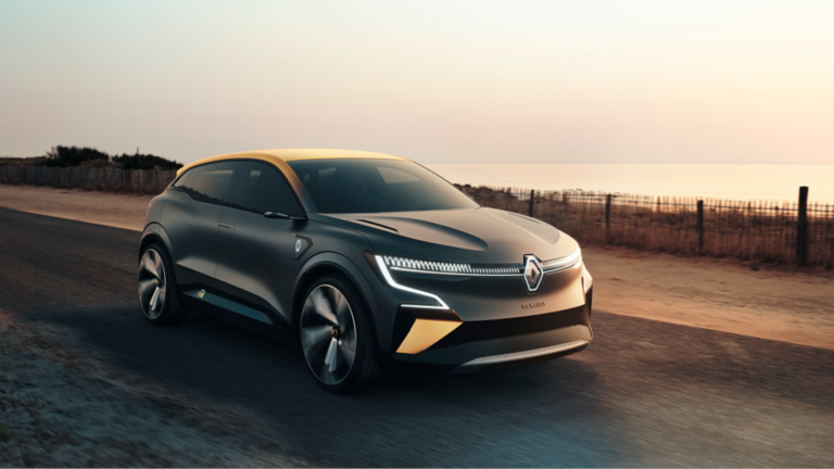 The Renault Megane eVision concept car
