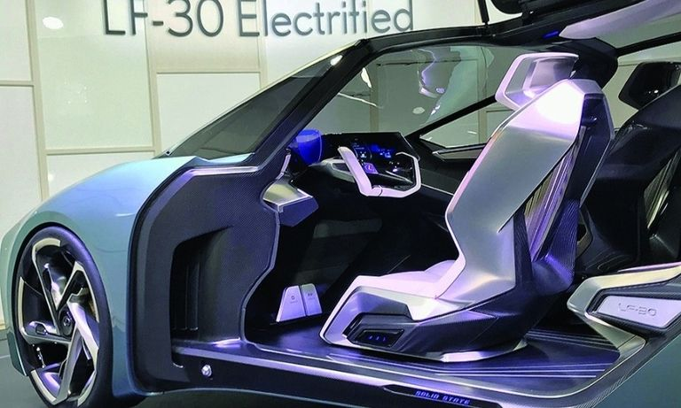 The Lexus LF-30 Electrified concept envisions using a solid-state battery.