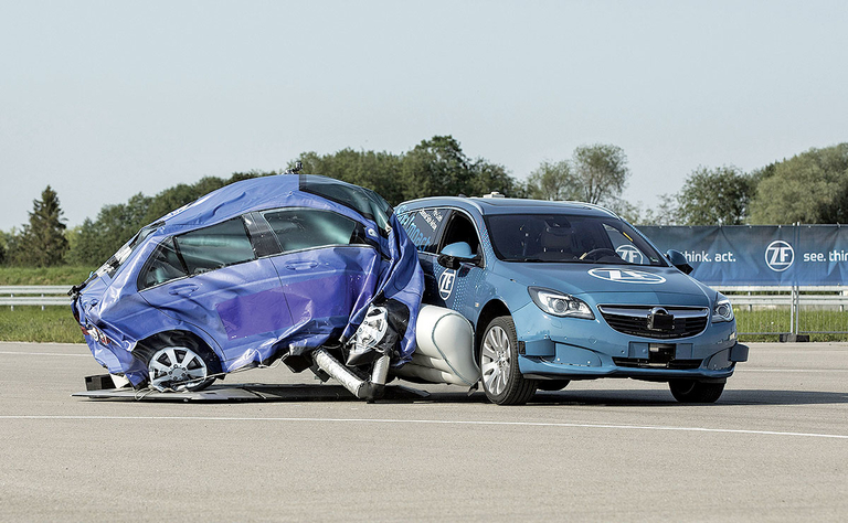 ZF external side airbag is proactive, not reactive