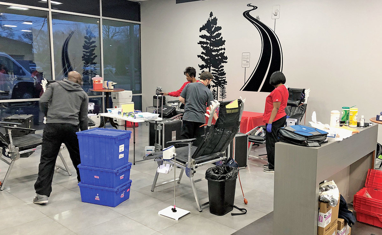 Store switches from test drives to blood drives