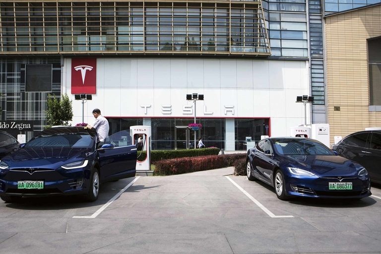 Tesla's car registrations fall 35% in February