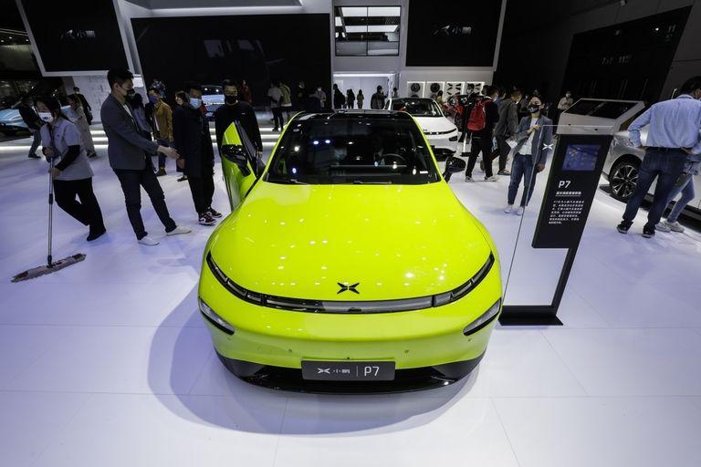 Xpeng auto show display