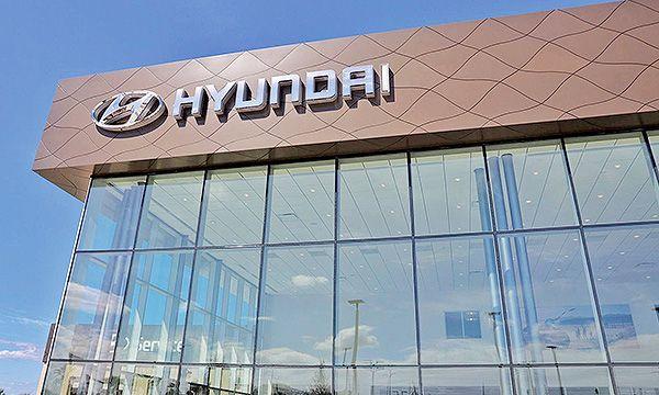 Sign at a Hyundai dealership