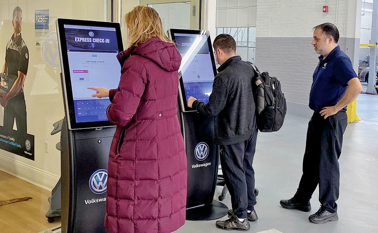 VW experimenting with service kiosks