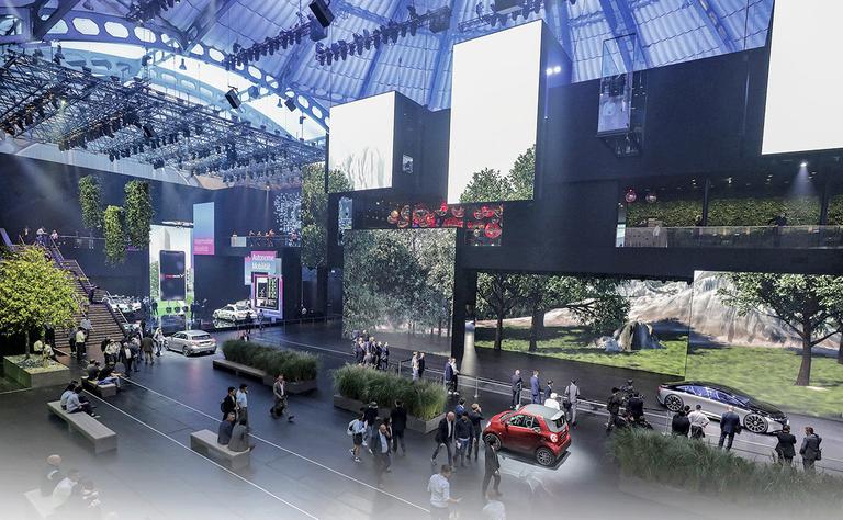 Frankfurt's no-shows, darkened halls signal an industry in flux