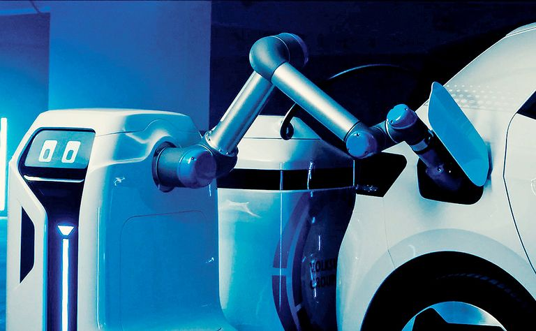VW unit is pumping funds into mobile charging robot