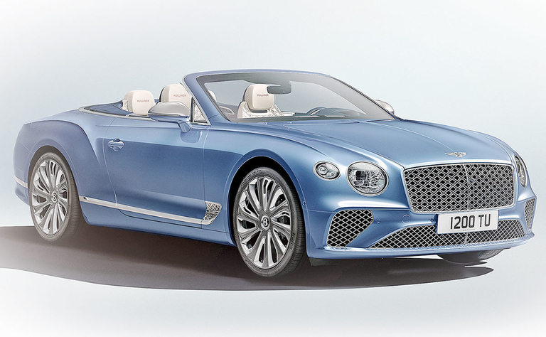 Bentley's convertible goes double diamond
