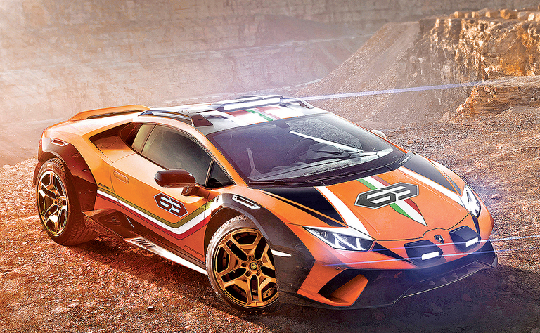 Lamborghini concept is part supercar, part off-roader