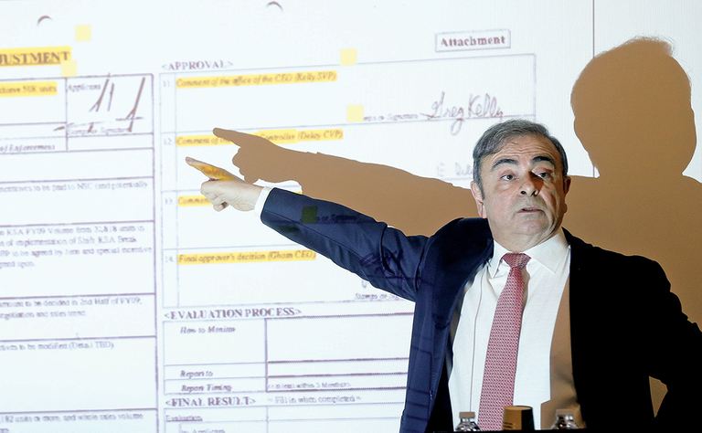 Nissan plots civil case for Ghosn's millions
