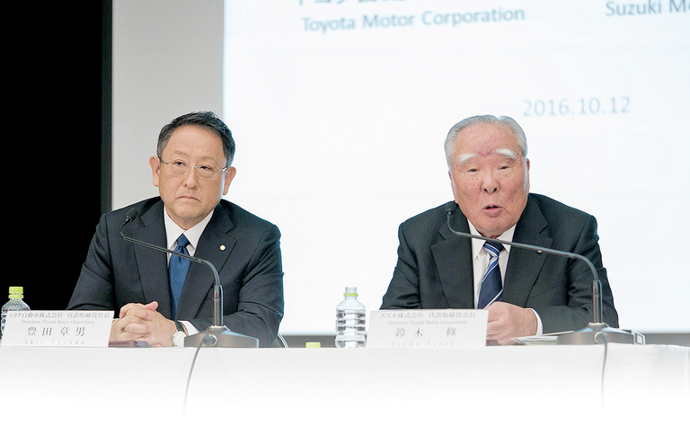 What is fueling Toyota's interest in Suzuki? India