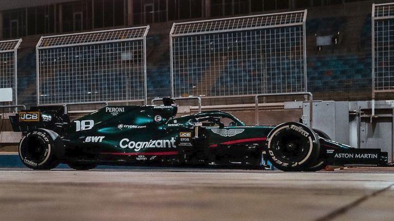 Aston Martin Cognizant F1 team car