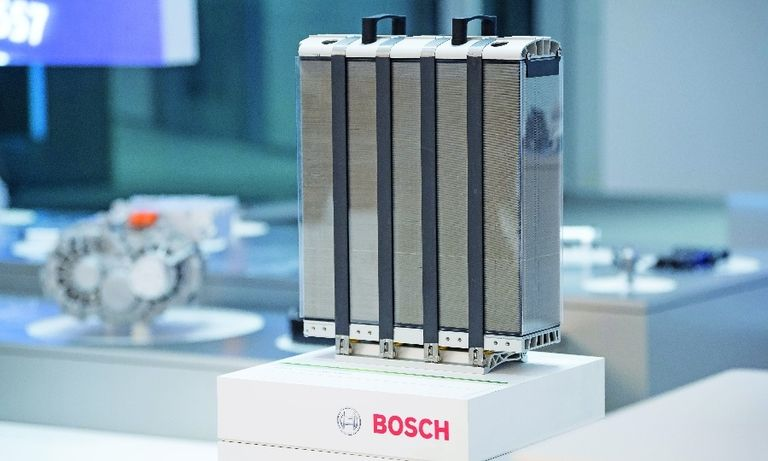 Bosch is developing fuel cell stacks in partnership with PowerCell Sweden.