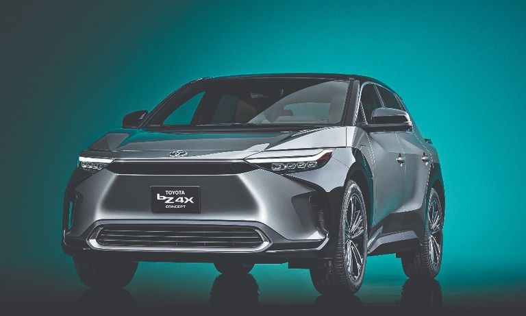 Toyota's bZ4X electric crossover will join the EV march in the U.S. next year.