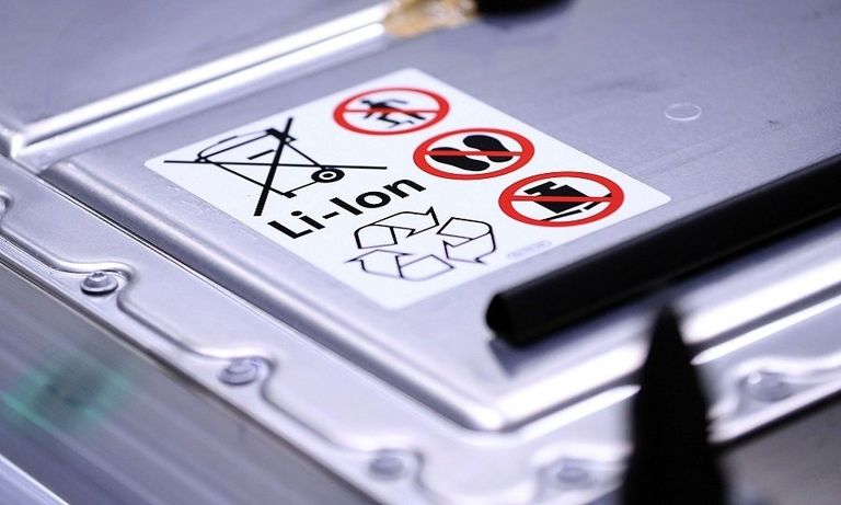 Case for a lithium ion battery for electric cars