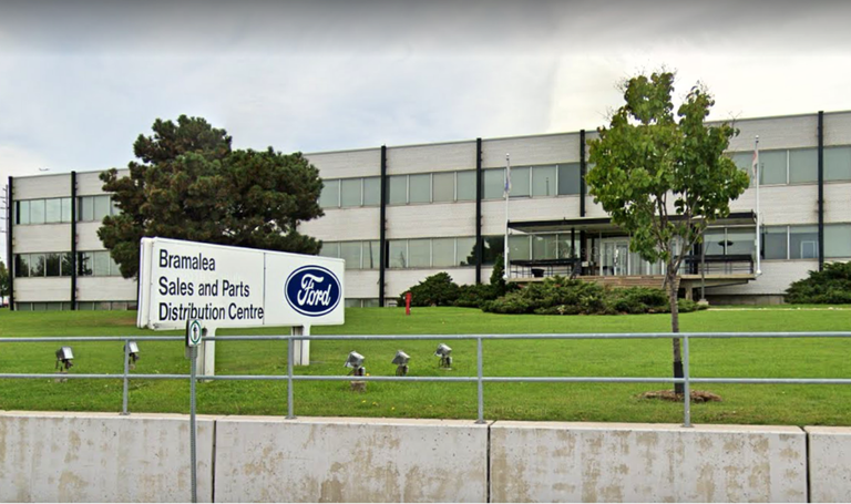 Exterior of Ford's Bramalea, Ontario, distribution center