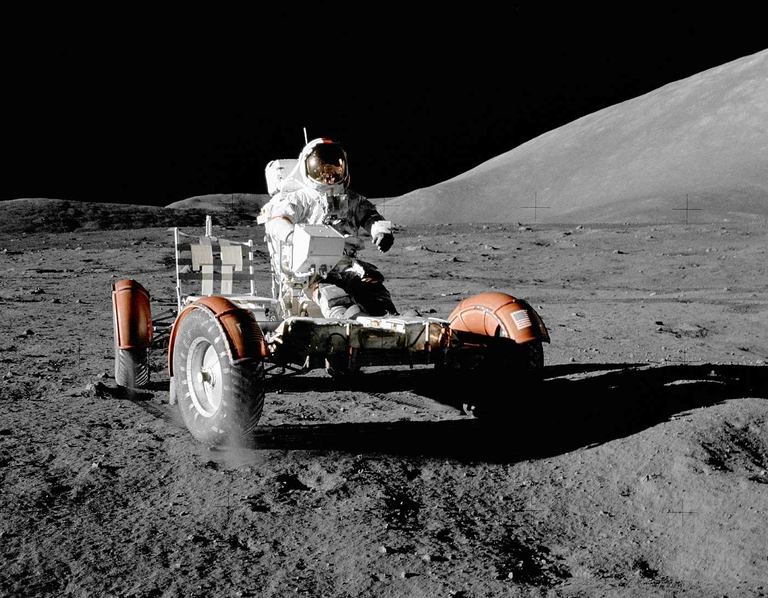 Apollo 17 mission ends in 1972, leaving behind 3rd U.S. lunar rover