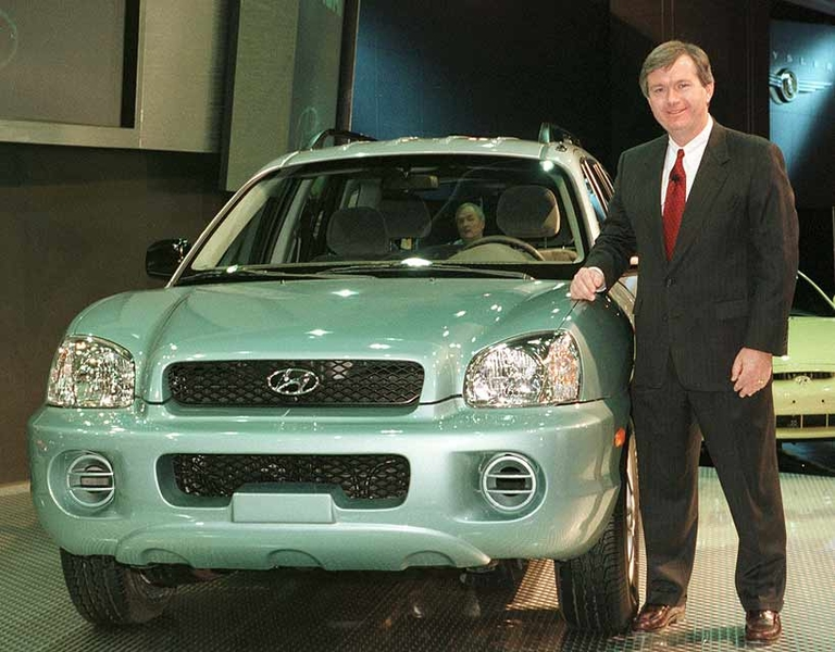 Hyundai adds first crossover, the Santa Fe, in 2000