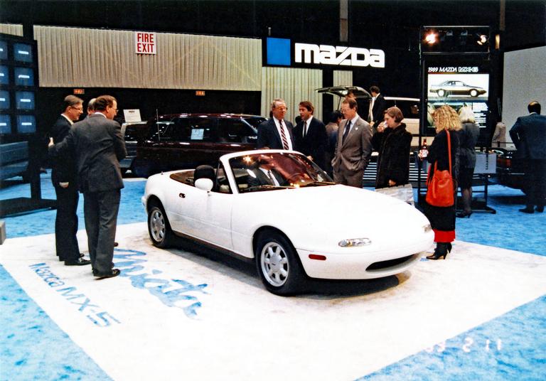 Mazda drops the cover on MX-5 Miata in 1989