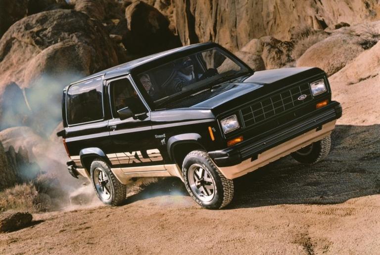 Ford Bronco II debuts in U.S. showrooms in 1983