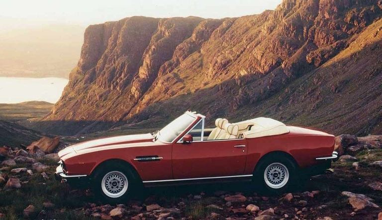 Aston Martin slots a V-8 in a convertible in 1978