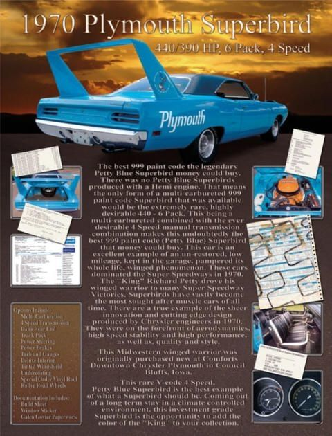 Plymouth Superbird completes a short run