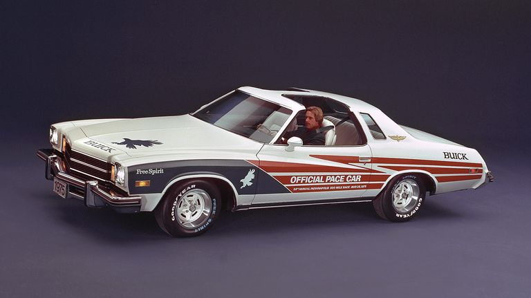 Buick Century coupe, with big V-8 under hood, paces Indy 500 in 1975