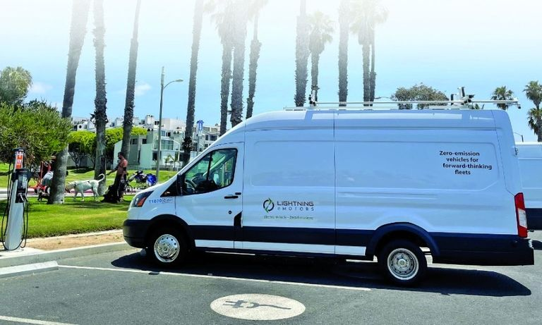 Lightning eMotors is one of the companies that transports goods in the zero-emissions delivery zone.