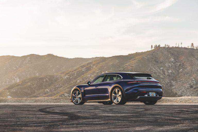 2022 Porsche Taycan Cross Turismo: A wagon with green rockets