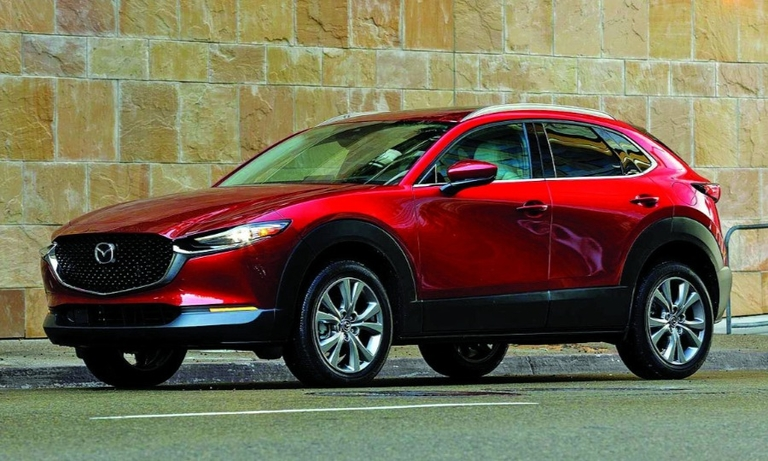 The launch of the CX-30, here, was aided by lessons learned with the Mazda3.