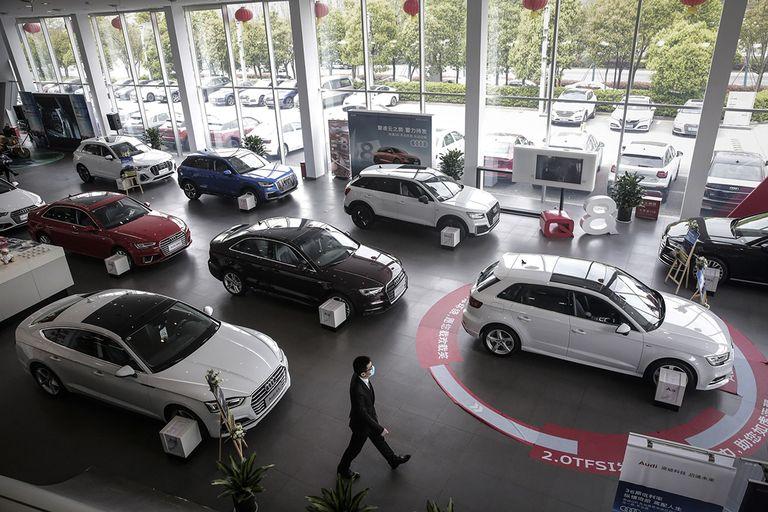 An Audi showroom in China