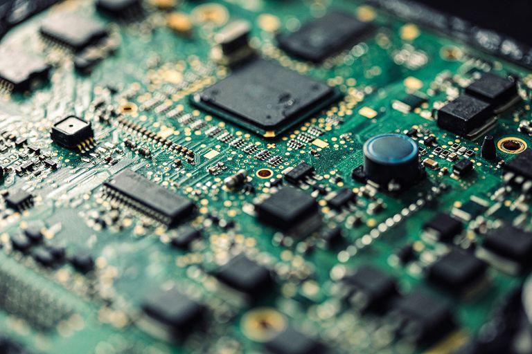 Microprocessor on a circuit board